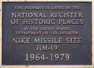 Nike Missile Plaque