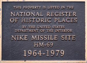 Nike Missile Plaque